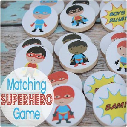 Matching Superhero Game