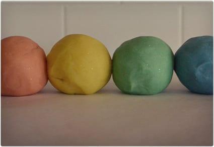 Rainbow Sparkle Play Dough