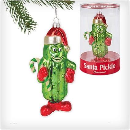 Santa Pickle Ornament
