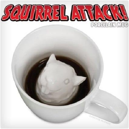 Squirrel Attack Porcelain Mug