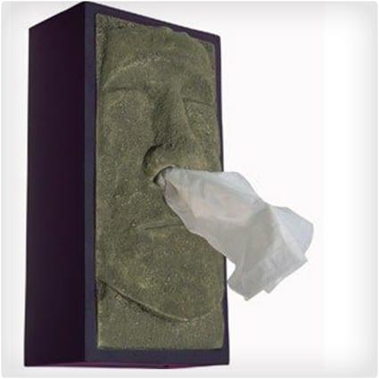 Tiki Head Tissue Box Cover