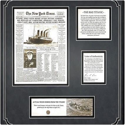 Titanic Wood Debris from 1912