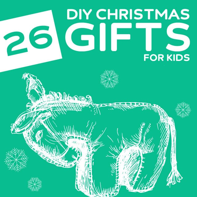 26 Homemade Christmas Gifts for Kids- homemade monster hoodie towels, games, toys and my favorite, marshmallow shooters!