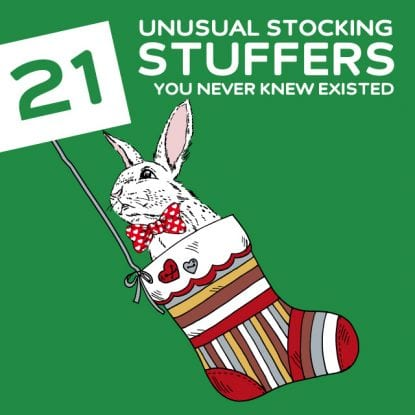 21 Most Unusual Stocking Stuffers- you never knew existed.