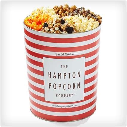 6 Flavor Popcorn Tin