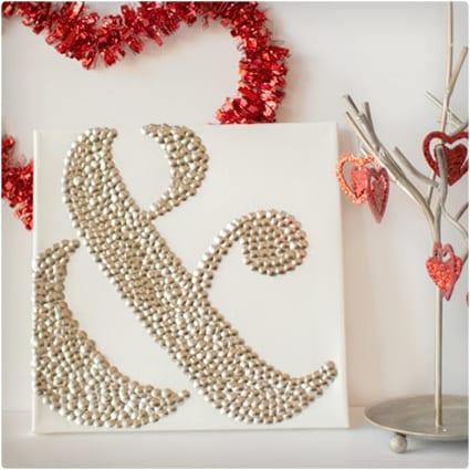 Ampersand Valentine Art