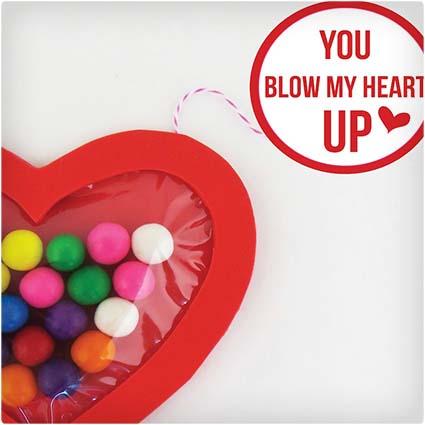 Bubble Gum Valentine Craft