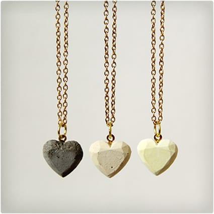 Concrete Love Hearts Necklace