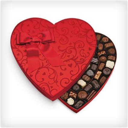 Elegant Heart Valentineu0027s Chocolates