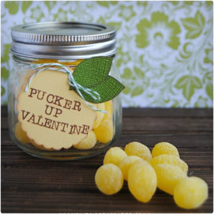 Lemon Drop Valentine Mason Jar