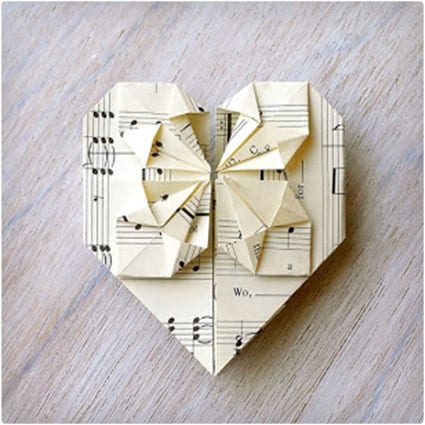 origami valentines card - Homemade Valentine Gifts For Her