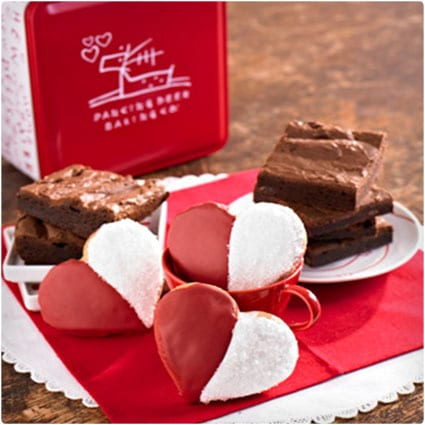 Valentine's Day Brownie & Cookie Tin