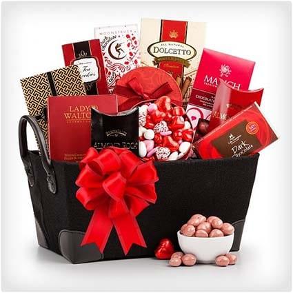 Valentineu0027s Day Gourmet Gift Basket