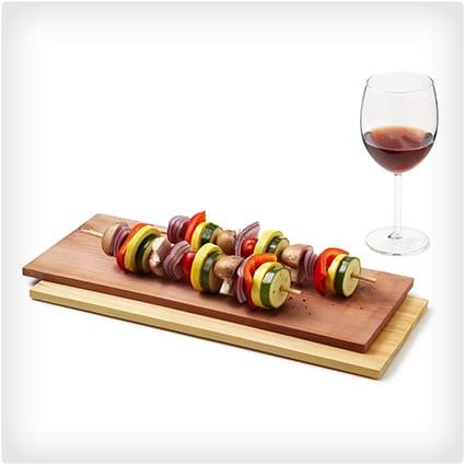 Wine Infused Grilling Plank Set