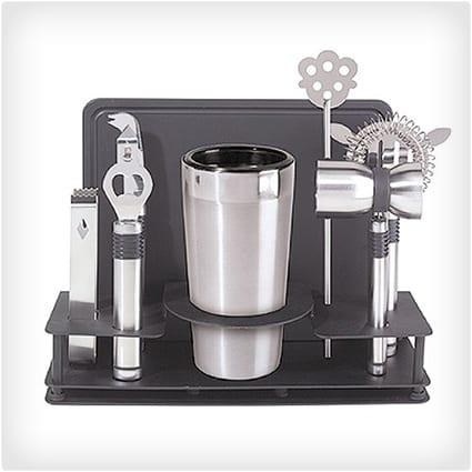 Cocktail Shaker and Bar Tool Set