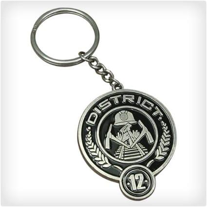 District 12 Metal Keychain