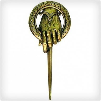 King's Hand Bronze Brooch