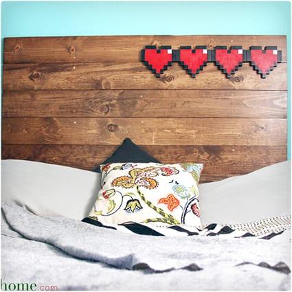 8-Bit Hearts Headboard