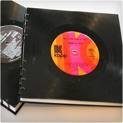 21 no fail gifts for music lovers dodo burd diy gifts for music lovers handmade vinyl record book negle Choice Image