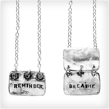 Reminder Breathe Necklace