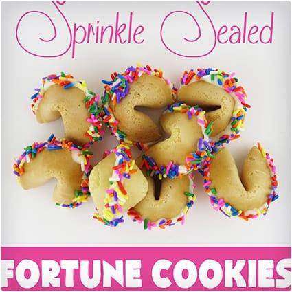 Sprinkle Sealed Fortune Cookies