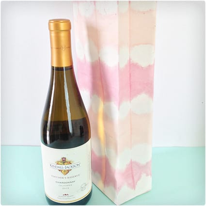 Watercolor Paper Wine Bag