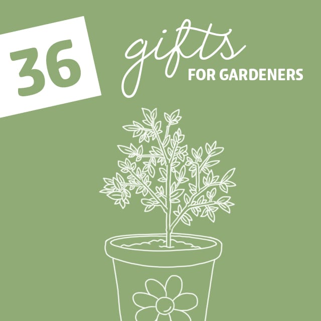36 Gifts for Gardeners- with the green thumb. All the plant lovers in your life with be in love with these gifts.