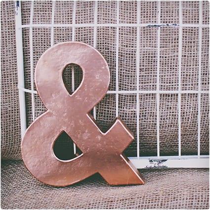 Copper Ampersand