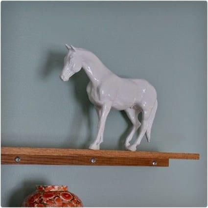 DIY Ceramic White Horse