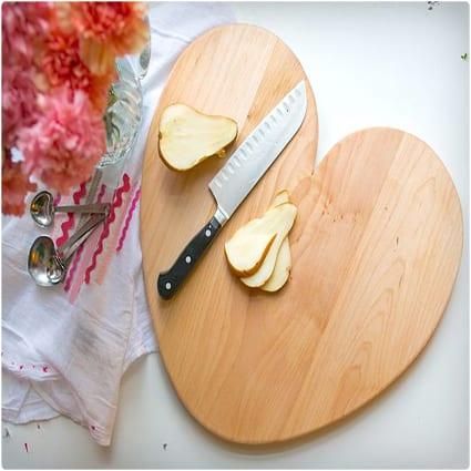 DIY Heart Cutting Board
