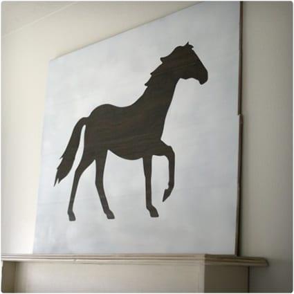DIY Large Wood Horse Wall Art