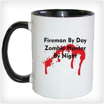 Fireman Zombie Hunter Mug