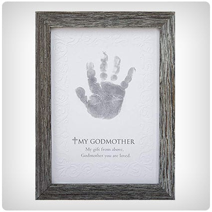 Godmother Godchild Handprint Frame