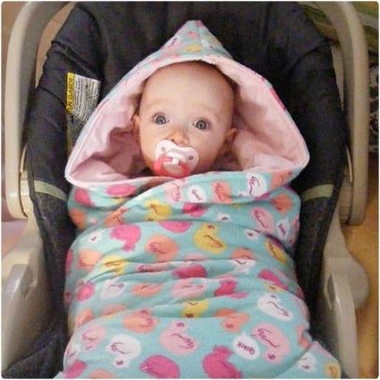 Hooded Car Seat Blanket