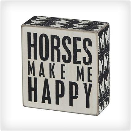 Horses Make Me Happy Square & 18 Unique Gift Ideas for Horse Lovers u0026 Equestrians