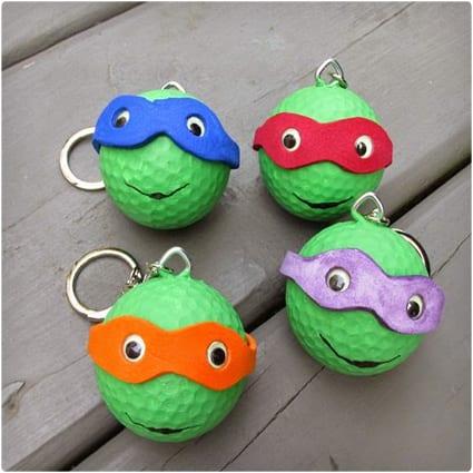 Ninja Turtles Backpack Charms