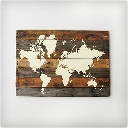 Pallet Board World Map