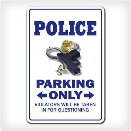 Police Parking Sign