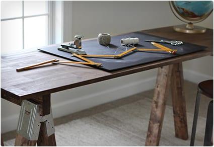 Rustic Sawhorse Desk
