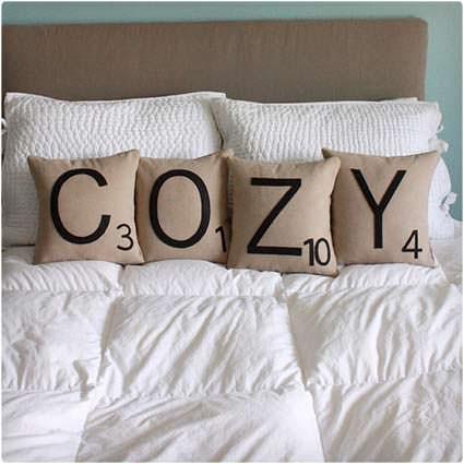 Scabble Tile Pillows