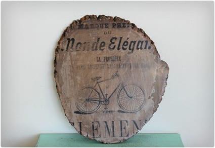 Vintage Bicycle Ad Art