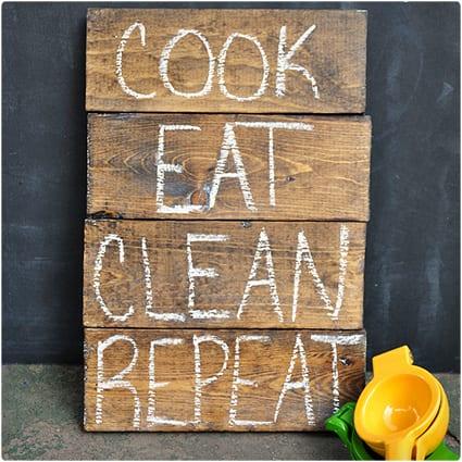 Wood Chalkboards Kitchen Sign