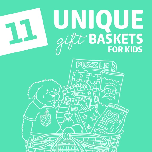 11 Unique Gifts Baskets for Kids- packed with fun and creative play.