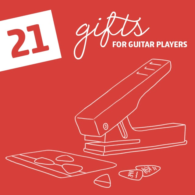 21 clever gifts for guitar players including a tool to make your own guitar picks