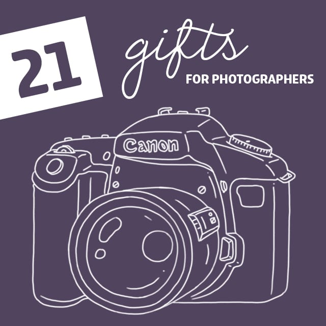 21 Unique Gifts for Photographers- of all skill levels.