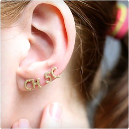 Alphabet Pasta Stud Earrings