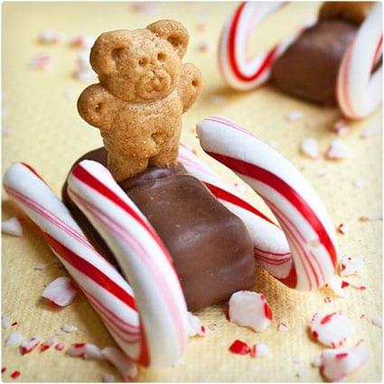 Christmas Candy Cane Sleds