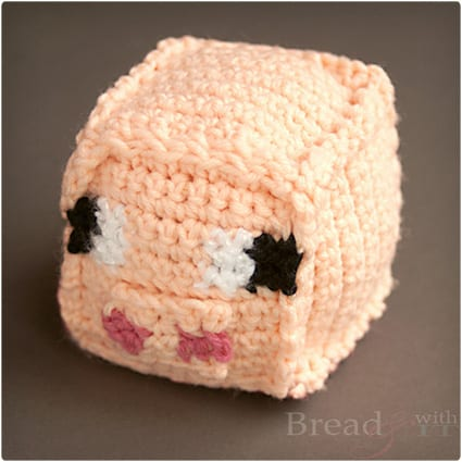Crochet Minecraft Pig Head