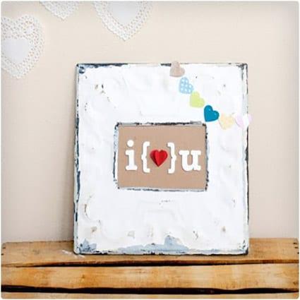 DIY Valentine Art