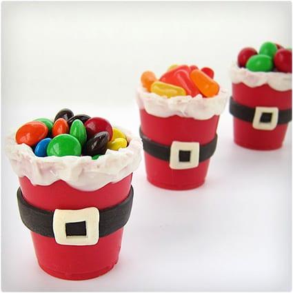 Edible Santa Suit Cups